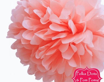 1 x 20cm Blush PINK Tissue Paper POM POM / Birthday Party Decorations and Supplies / Pompom / Paper Flower / Wedding / Baby Shower