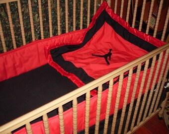 Nursery Crib Bed Set Jumpman Air Jordan Nike By