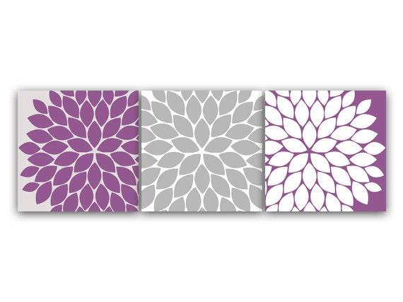 home decor wall art 12x12 purple grey bedroom decor flower. Black Bedroom Furniture Sets. Home Design Ideas