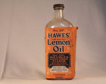 Hawes Lemon Oil bottle, furniture polish, from Edward Hawes & Co. Limited, Toronto, Canada