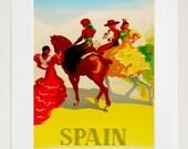 Spain Travel Poster Spanish Art Print Vintage Home Decor (ZT213)