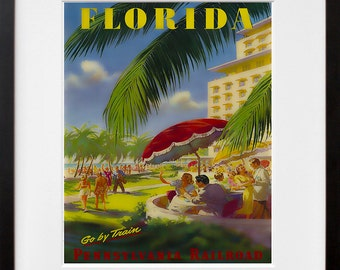 Florida Wall Art Print America Vintage Travel Poster (TR79)