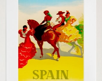 Spain Travel Poster Spanish Art Print Vintage Home Decor (ZT213)
