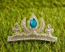Snow Queen Frozne Elsa Princess Crown Hair Clip, Sparkling Birthday Girl Hair Clip for Kids - Silver