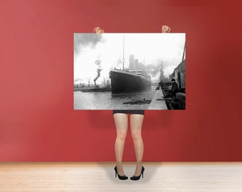 RMS Titanic Poster Rolled Print British passenger liner that sank in the North Atlantic Ocean Ship Photo