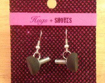 Rollerskate Toe Stop Earrings