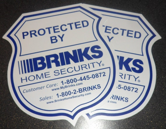 2 brinks home security yard signs without stakes by for Brinks home security