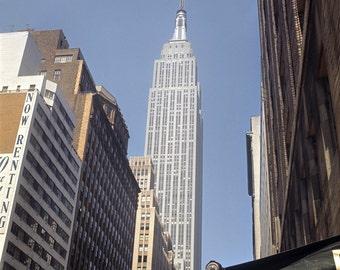 New York 1963 64 USA NYC Empire State Building Midtown Skyline View Photo Vintage Look Arthur von Schwertfuehrer (1891-1967) Open Edition