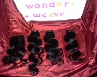 Top Quality Virgin Peruvian, Malaysian, Brazilian Hair 3 Bundle PACKAGE