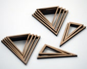 12 Concentric Triangle Wood Beads : Cherry