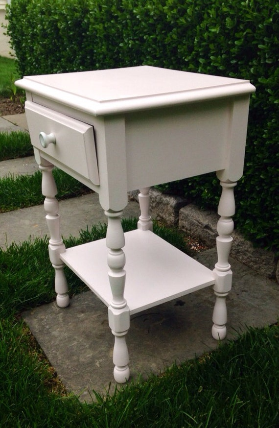 Pink Bedside Table: On Hold Pale Pink Cute Bedside Table Night Stand Pink Side