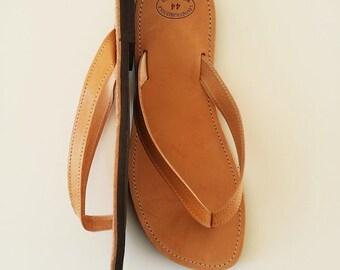 Men Leather Flip Flops - Greek Handmade Flip Flops