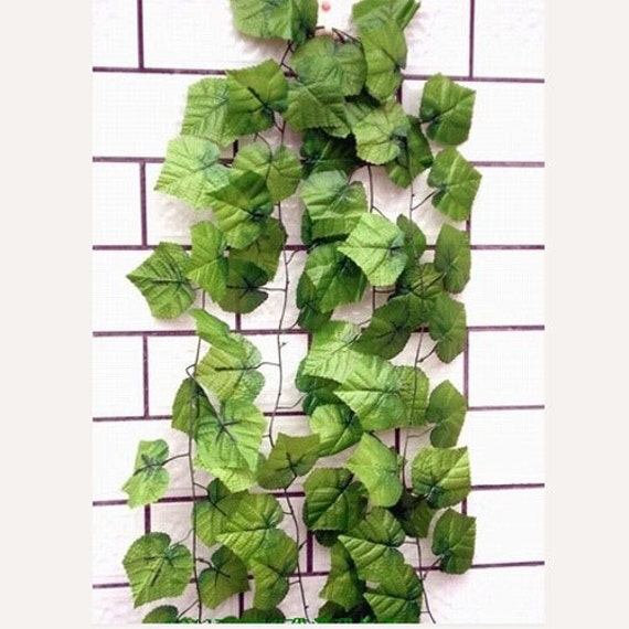 6 pcs artificial fake ivy vine grape leaf garland by for Artificial grape vines decoration