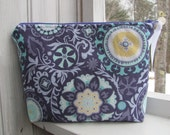 Cosmetic Zippered Bag Large Purple