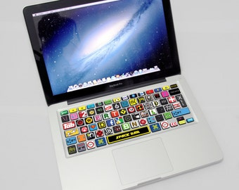"Macbook keyboard sticker Cartoon for Mac Apple Macbook pro Macbook Air 13 ""15"" 17 ""! AMERICAN KEYBOARD"
