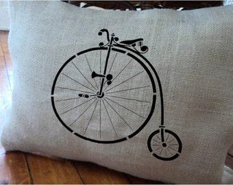 Vintage Retro Bicycle STENCIL for home wall interior decor / reusable stencil