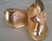 Infant Tie Star  Bootie Style # 204 Gold size 04