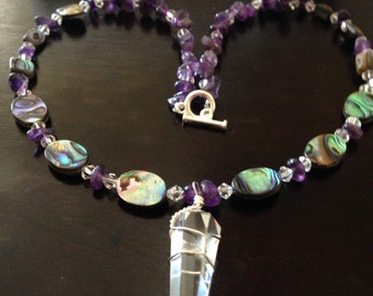 Abalone love Necklace
