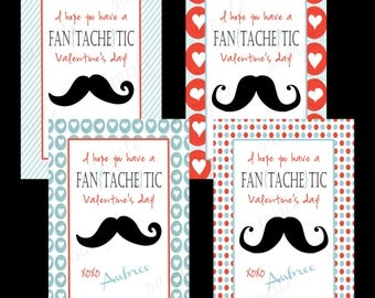 personalized kid valentine cards boy or girl printable valentine card fantachetic valentine card set - Boy Valentines