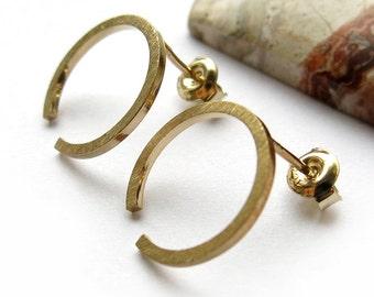 Earstud, open ring, 15mm