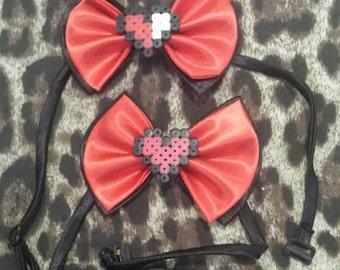 8Bit Heart Bow Tie