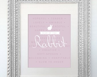 Poster Print - Year of the Rabbit