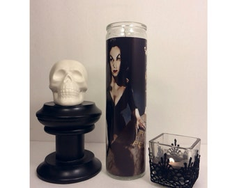 Vampira Maila Nurmi Prayer Candle