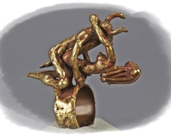 Pal Kepenyes, erotic small sculpture, bronze