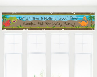 Dinosaur Birthday Party Banner - Custom Party Decorations