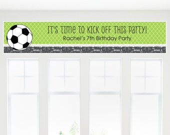 Soccer Banner - Custom Party Decorations for a Birthday Party or Baby Shower
