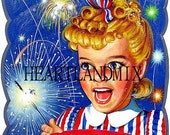 4th of July Vintage Image Sunbeam Bread July 4th