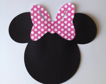 12 Minnie Mouse die cut 5""
