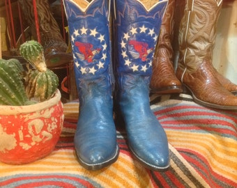 1976 Justin Bicentennial Eagle 1776 Commerative Cowboy Boots