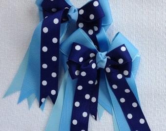 Equestrian Hair Bows/navy blue/hair accessory/equestrian clothing/gift
