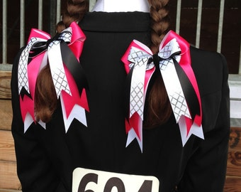 Equestrian hair bows special shows/Pony Finals/Classics, shadbelly