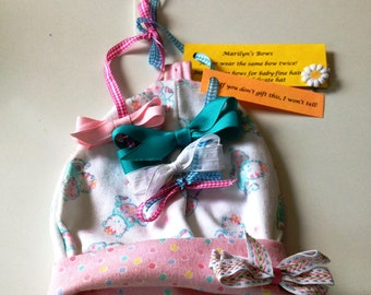 Baby Hat With 4 Interchangeable Bows