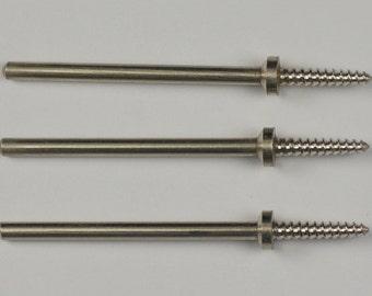 3x Mandrel tapered threaded shank Grinding Wheel Polishing Rotary Screw Tools