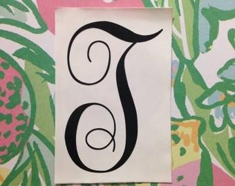 Single Letter Monogram Decal