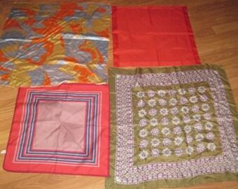 1960's fine silk scarves lot of 4