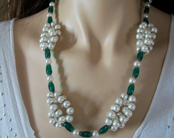 White Pearl bracelet and necklace