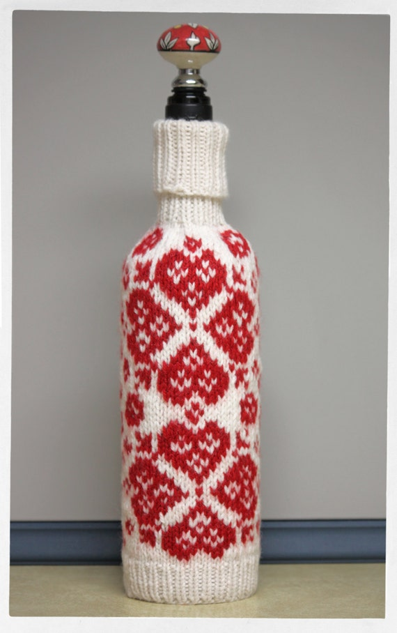Knitting Pattern Wine Bottle Cover : Valentines Day Wine Bottle Covers Valentines Day Wikii