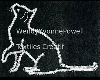 Bobbin Lace Pattern, Mr.Playful, By Wendy Yvonne Powell, Braid Lace, Russian Braid Lace,Tape Lace,Pillow Lace,Pattern, Dentelles,Kantklossen