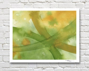 """Abstract Watercolor Painting - """"Intersection""""  - Contemporary Wall Decor"""