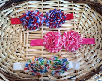 Two flower Baby Headband for sale