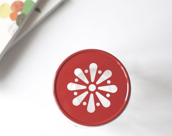Red daisy lid for Mason Jar