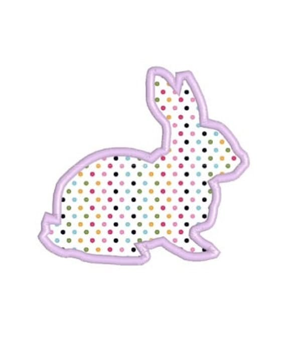 Bunny Applique Machine Embroidery Design in 3 Sizes, 4x4, 5x7 and 6x10