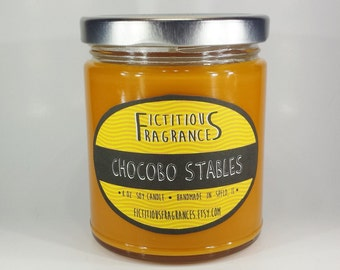 Chocobo Stables -- Final Fantasy Inspired 8 oz Scented Soy Candle