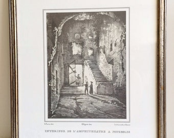 Italian Framed Print of Old Town Pouzzoli by Gigante