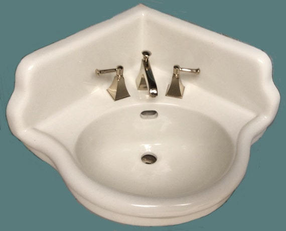vintage corner bathroom sink unavailable listing on etsy 21236