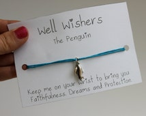The Penguin - Faithfulness, Dreams and Protection | Well Wisher Charm Bracelet Jewellery | Wish Bracelet, BFF Gift, Birthday Gift.